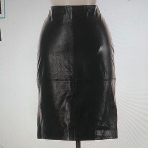 Talbots Leather Skirt Sz 2P